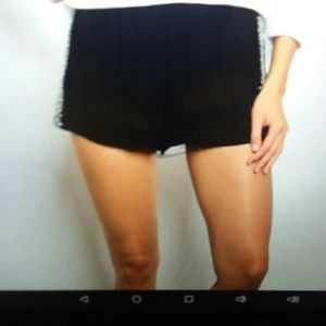Black Shorts with Embroidery